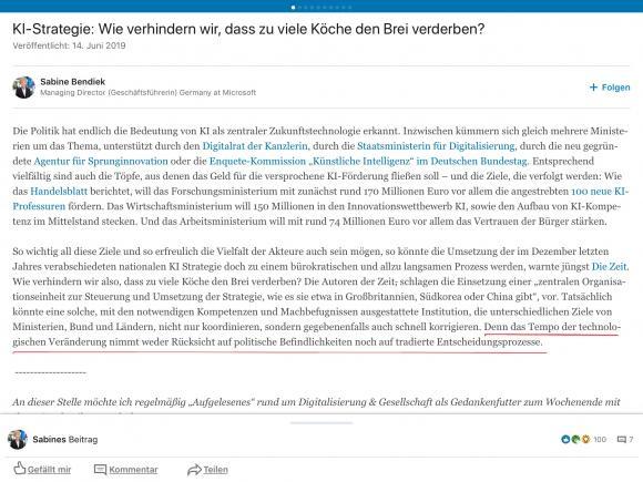 Blog-Zitat von Sabine Bendiek