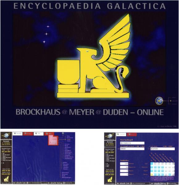 Brockhaus - Homescreen und Auswahlscreens