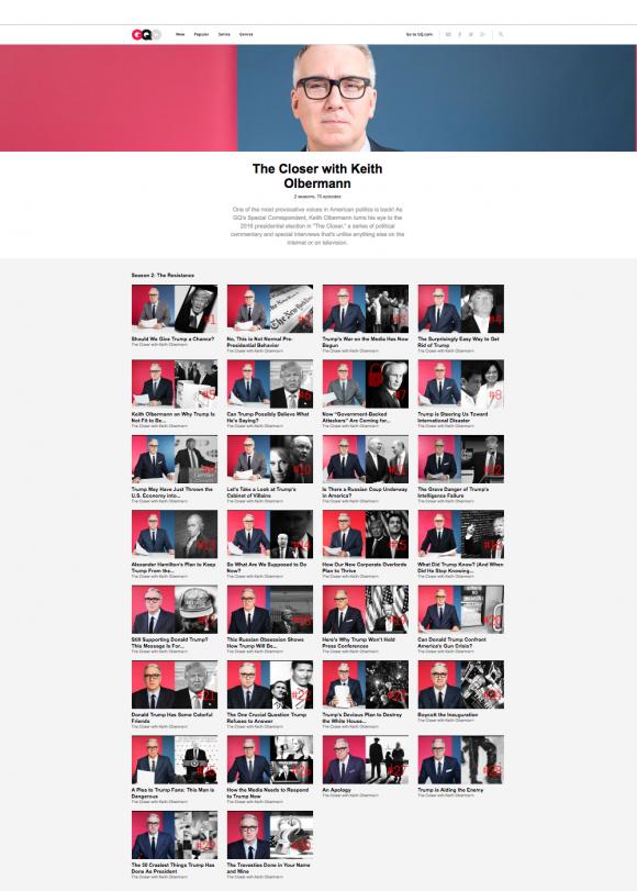 Keith Olbermann hat eine bemerkenswerte Video-Kolumne auf GQ