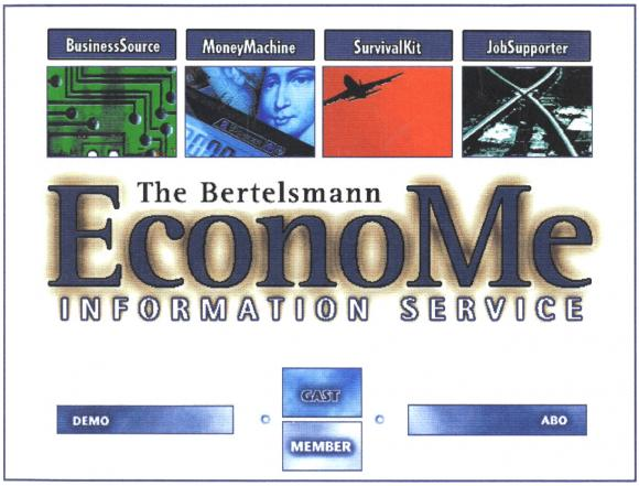 Der EconoMe Homescreen, später der G+J Business Channel