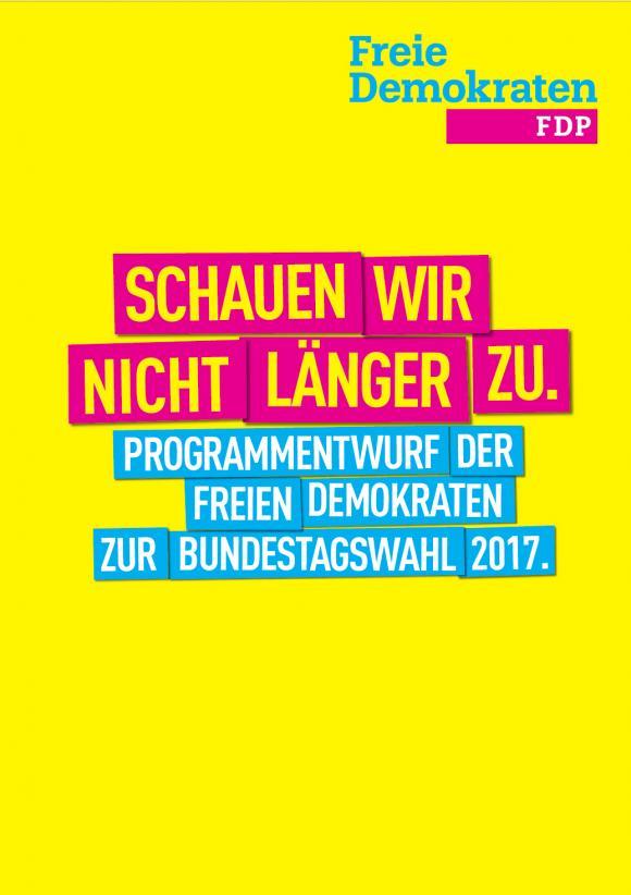 Titel des FDP-Wahlprogramm