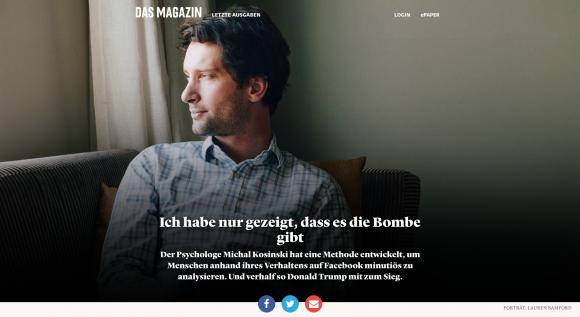 """Aufmacher des """"dasmagazin.ch"""""""