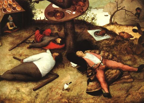 Schlaraffenland von Pieter Brueghel